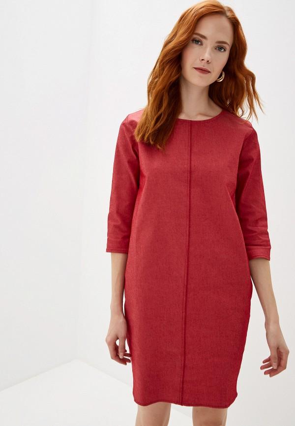 женское джинсовые платье massimiliano bini, красное
