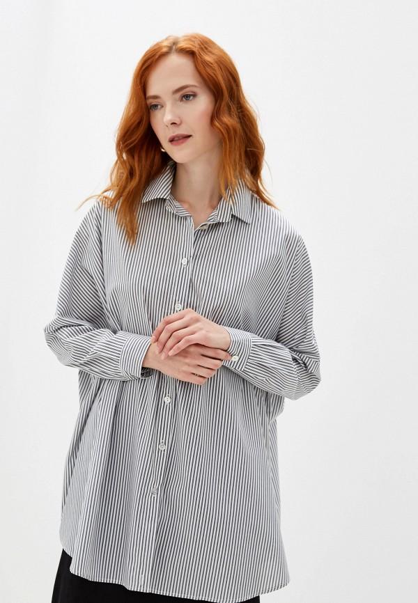 Фото - женскую блузку Massimiliano Bini серого цвета