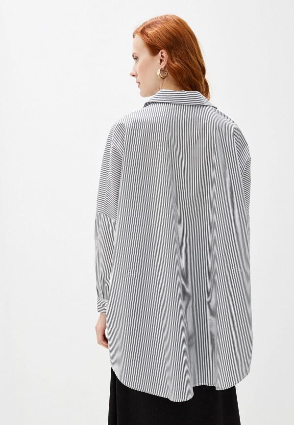 Фото 3 - женскую блузку Massimiliano Bini серого цвета