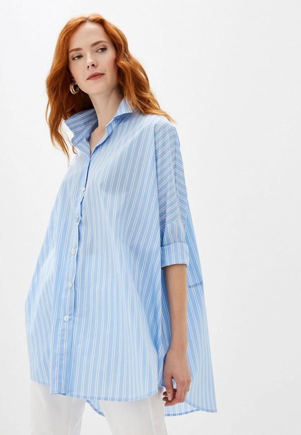 женская блузка massimiliano bini, голубая
