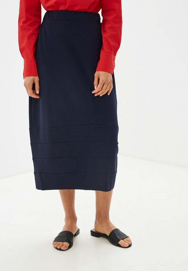 женская прямые юбка massimiliano bini, синяя
