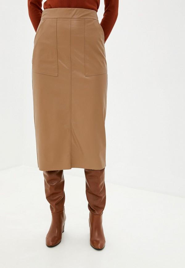 женская юбка massimiliano bini, бежевая