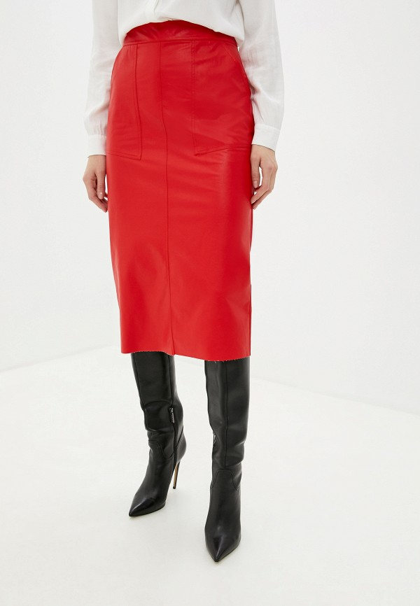 женская юбка massimiliano bini, красная