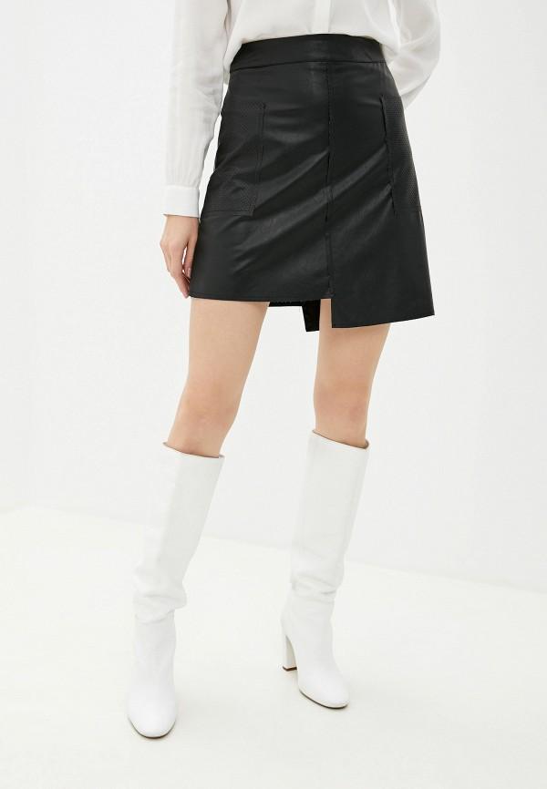 женская юбка massimiliano bini, черная