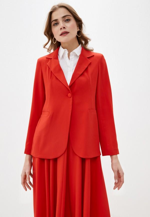 женский пиджак massimiliano bini, красный