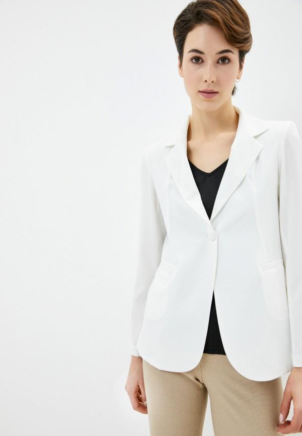 женский пиджак massimiliano bini, белый