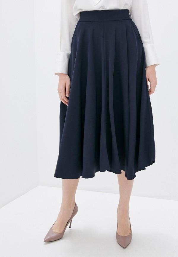 женская юбка massimiliano bini, синяя