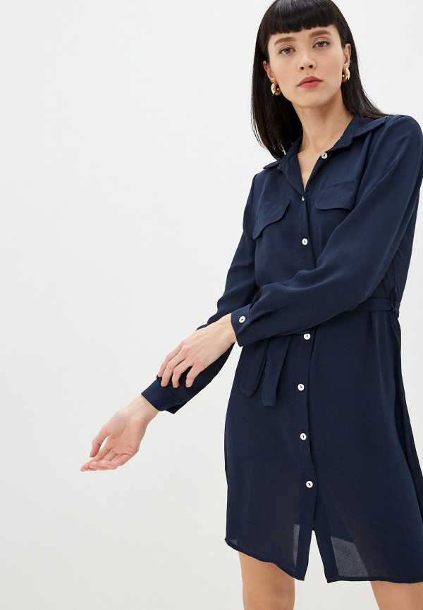 женское повседневные платье massimiliano bini, синее
