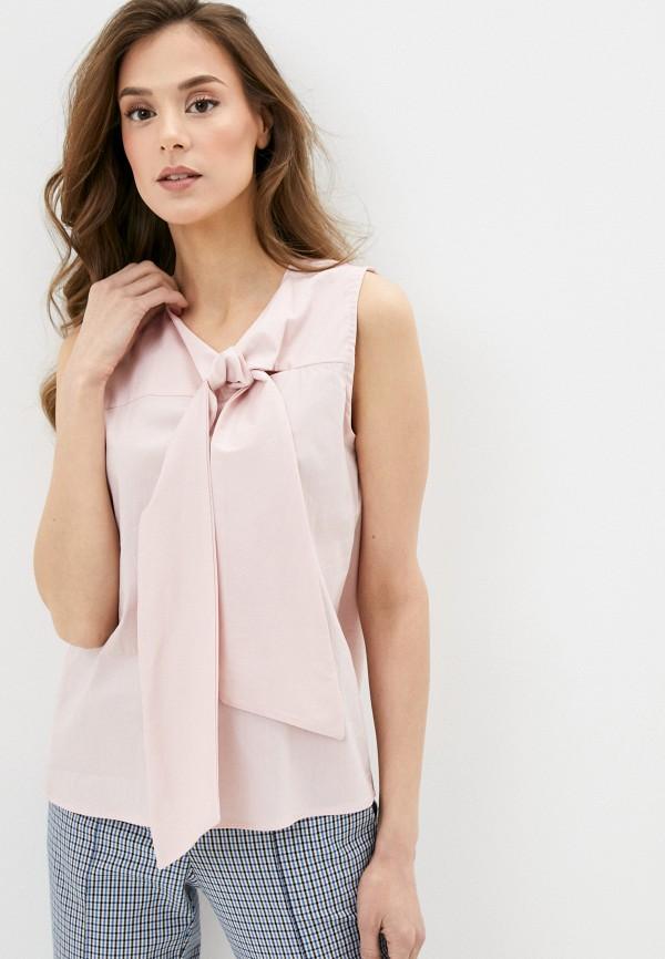 женская блузка massimiliano bini, розовая