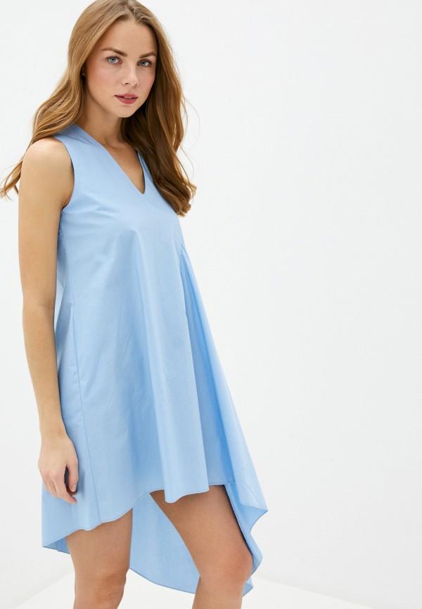 женское повседневные платье massimiliano bini, голубое