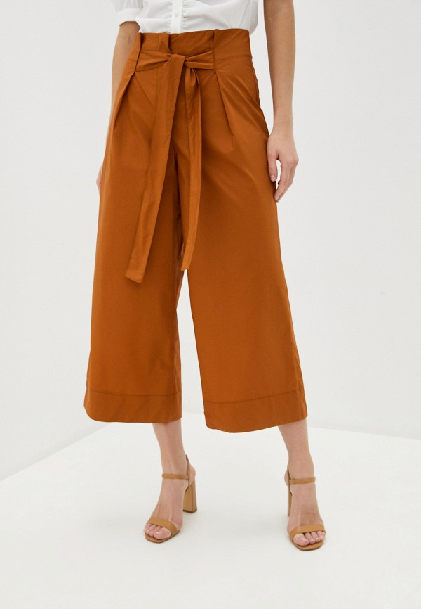 женские брюки massimiliano bini, коричневые