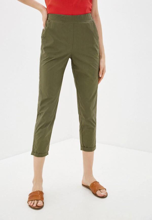 женские повседневные брюки massimiliano bini, хаки