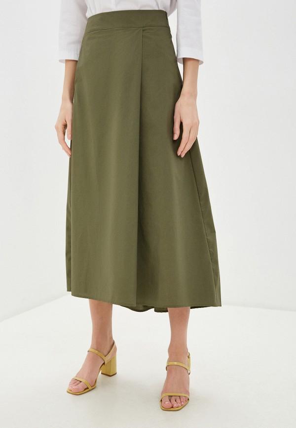 женская юбка massimiliano bini, хаки