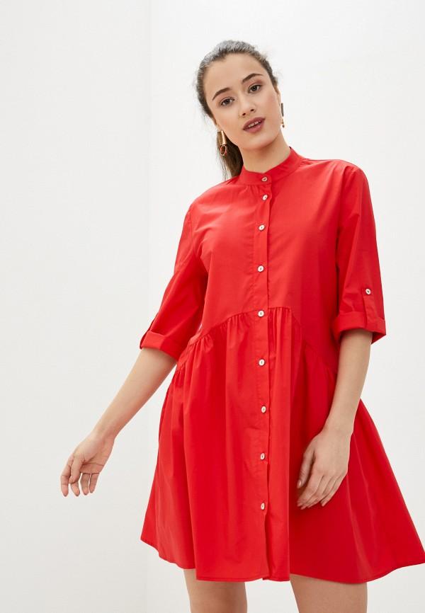 женское повседневные платье massimiliano bini, красное