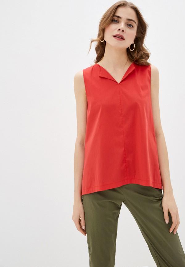 женская блузка massimiliano bini, красная