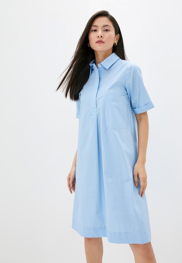 женское платье massimiliano bini, голубое