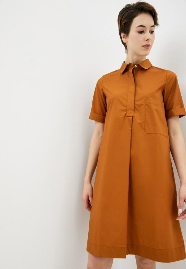 женское повседневные платье massimiliano bini, коричневое