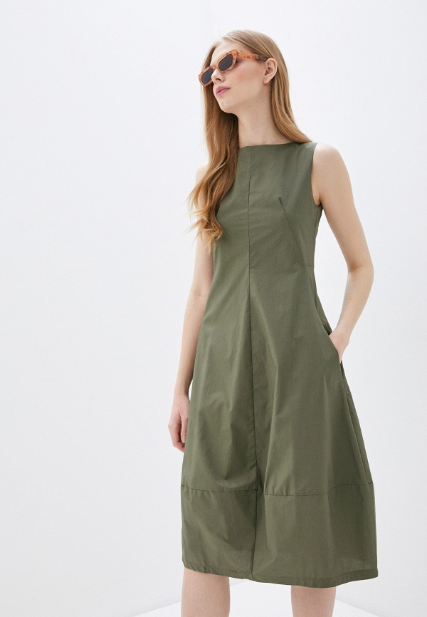 женское повседневные платье massimiliano bini, хаки