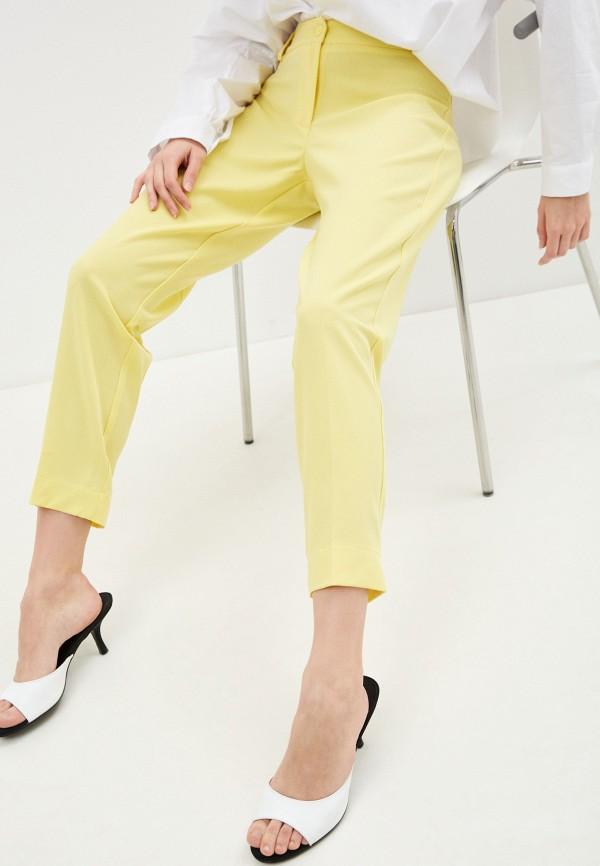 женские повседневные брюки massimiliano bini, желтые