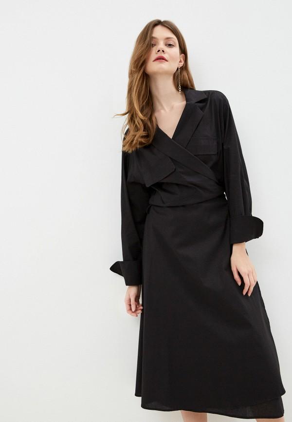 женское повседневные платье massimiliano bini, черное