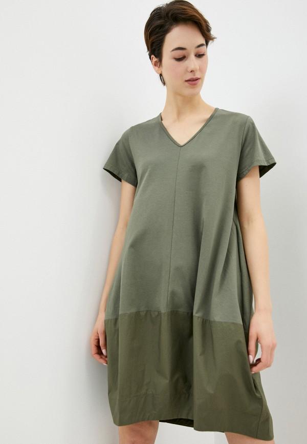 женское платье massimiliano bini, хаки