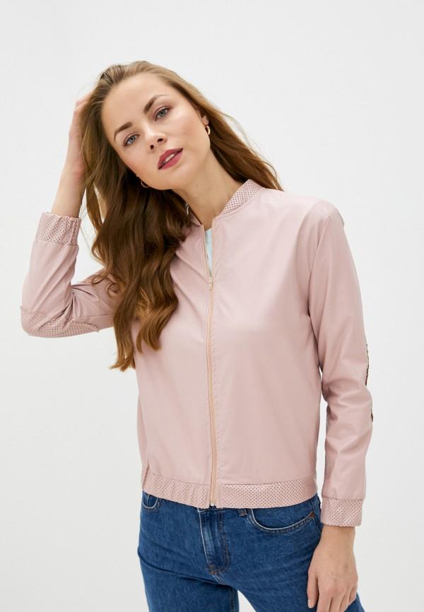 женская куртка massimiliano bini, розовая
