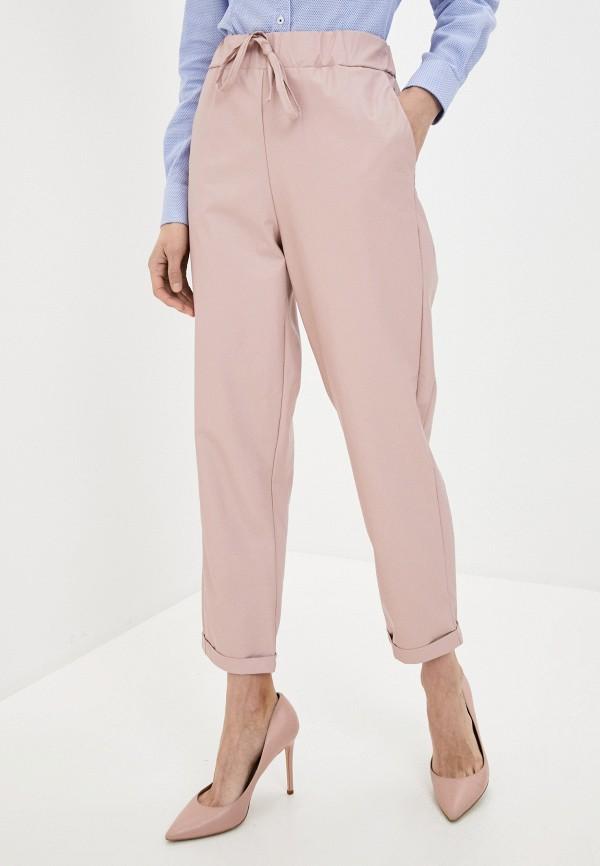 женские брюки massimiliano bini, розовые
