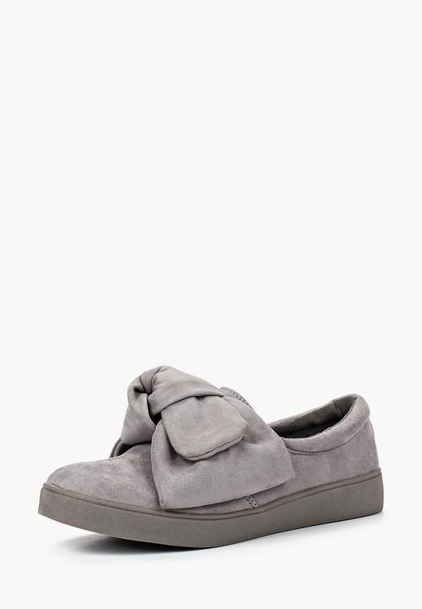 женские слипоны max shoes, серые