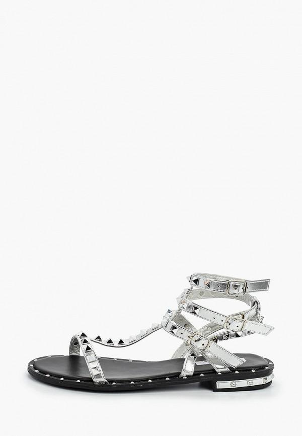 женские сандалии malien, серебряные