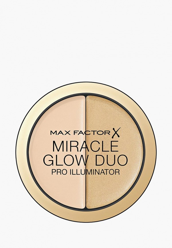 Купить Хайлайтер Max Factor, Miracle Glow Duo, Тон 10 light, MA100LWBRPW6, бежевый, Осень-зима 2018/2019