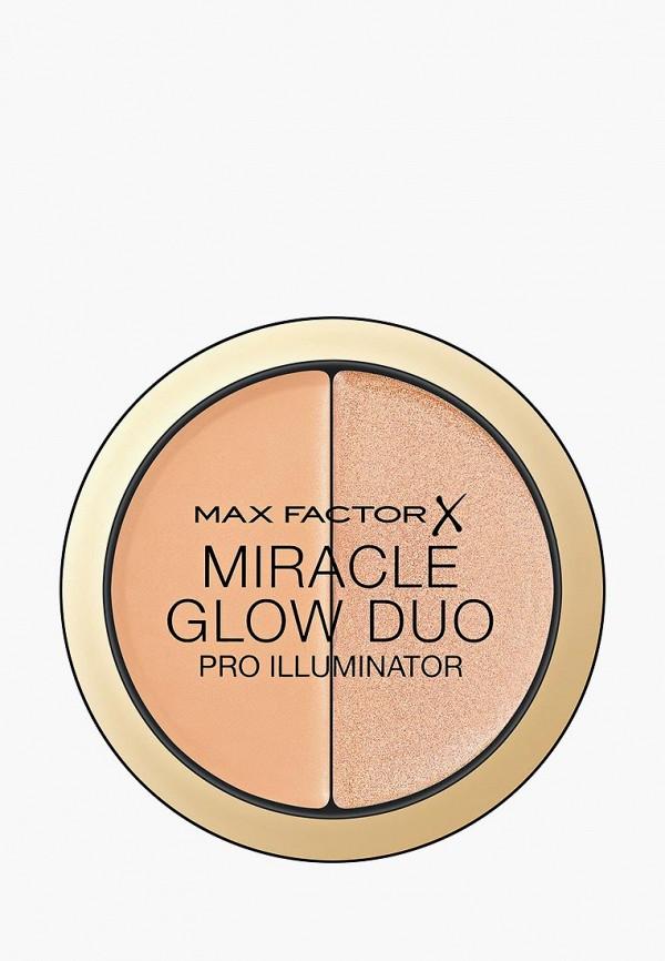 Купить Хайлайтер Max Factor, Miracle Glow Duo, Тон 20 medium, MA100LWBRPW7, бежевый, Осень-зима 2018/2019