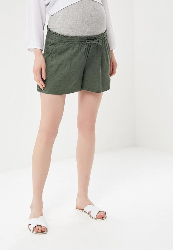 женские повседневные шорты mamalicious, хаки