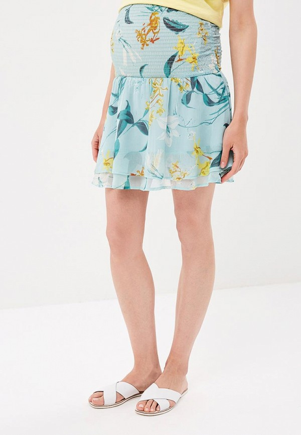 женская юбка mamalicious, бирюзовая