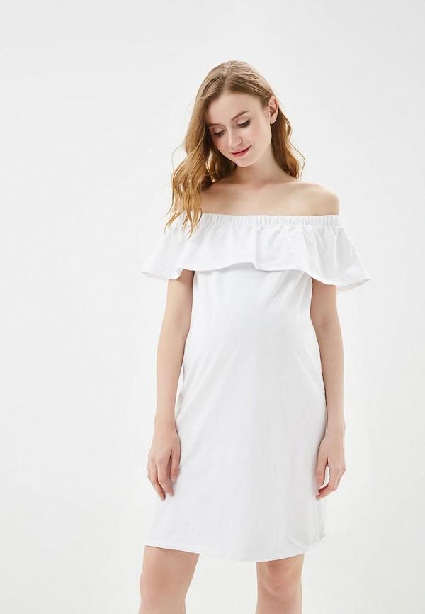женское платье для беременных mamalicious, белое