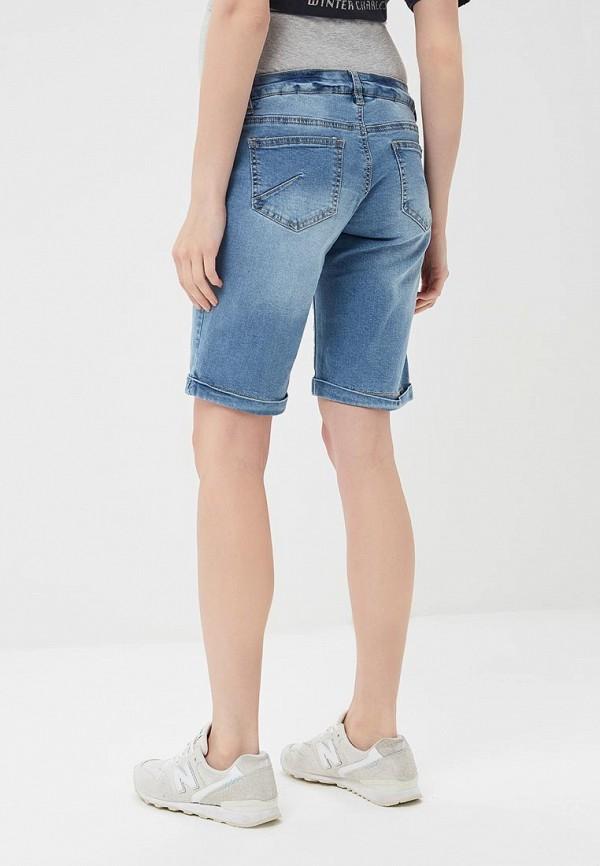 Фото 3 - Шорты джинсовые Mamalicious голубого цвета