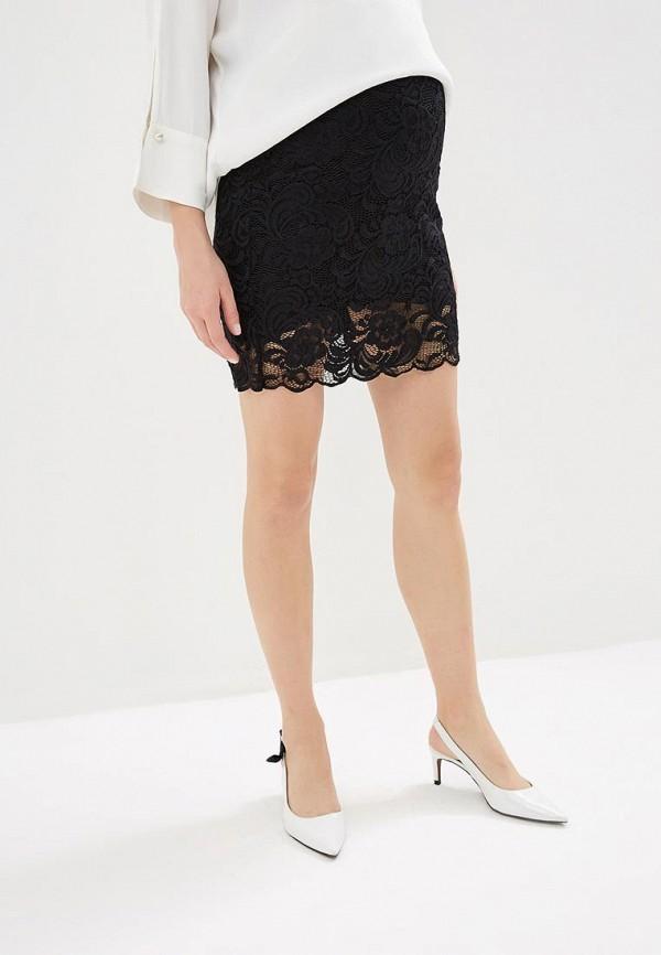 женская юбка для беременных mamalicious, черная