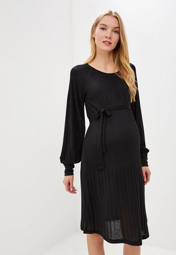женское платье для беременных mamalicious, черное
