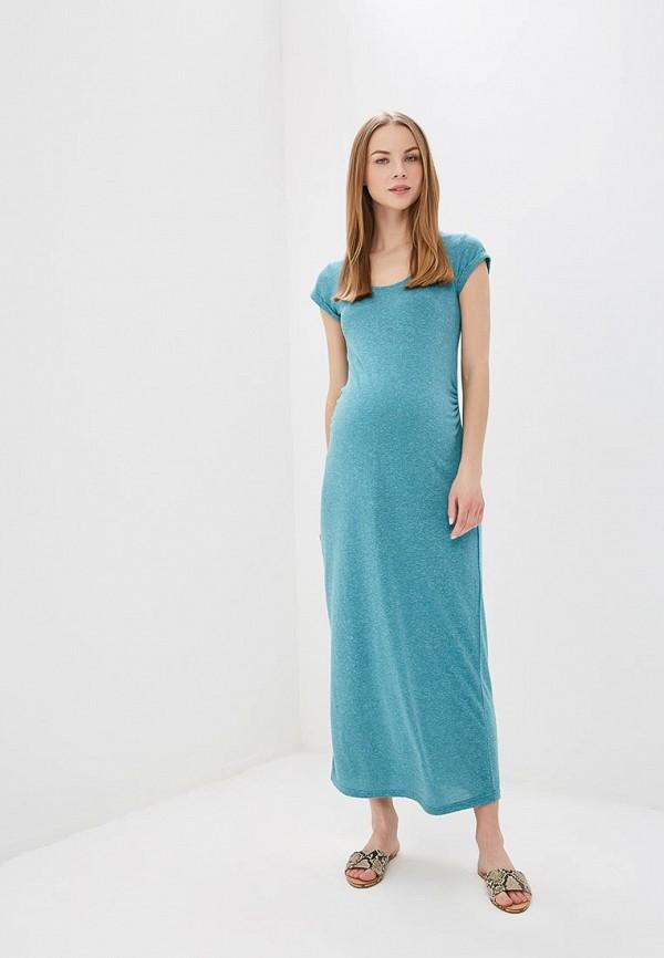 женское платье для беременных mamalicious, бирюзовое