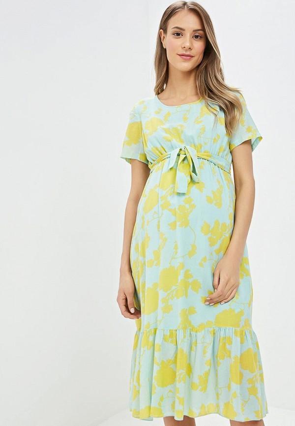 женское платье для беременных mamalicious, зеленое