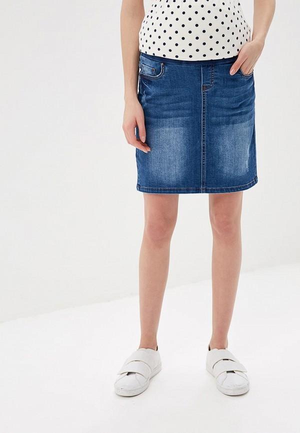 женская джинсовые юбка mamalicious, синяя