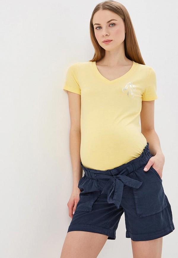 женская футболка для беременных mamalicious, желтая