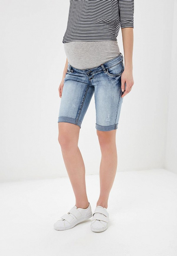 женские джинсовые шорты mamalicious, синие