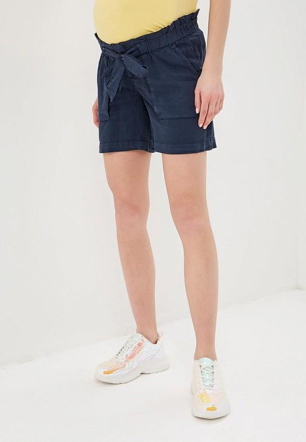 женские повседневные шорты mamalicious, синие