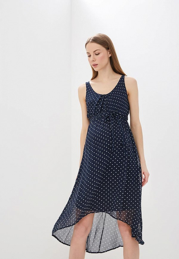 женское платье для беременных mamalicious, синее