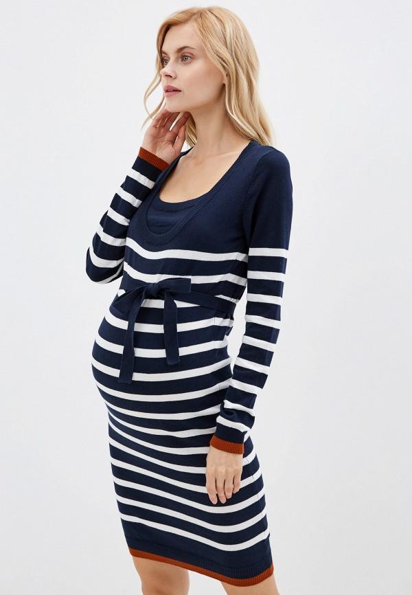 женское платье mamalicious, синее