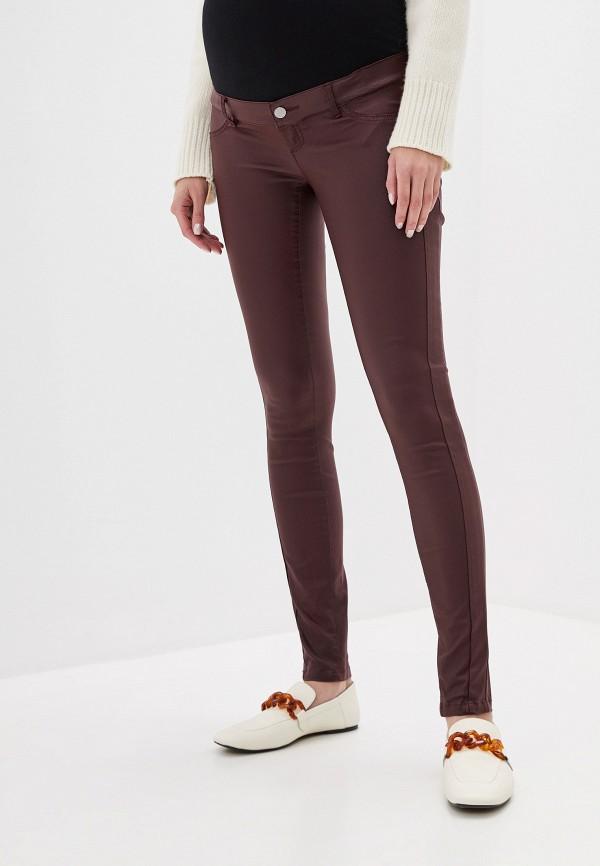 женские повседневные брюки mamalicious, бордовые