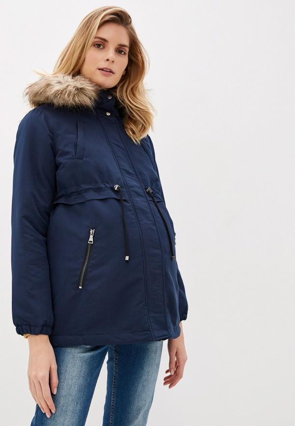 женская куртка mamalicious, синяя