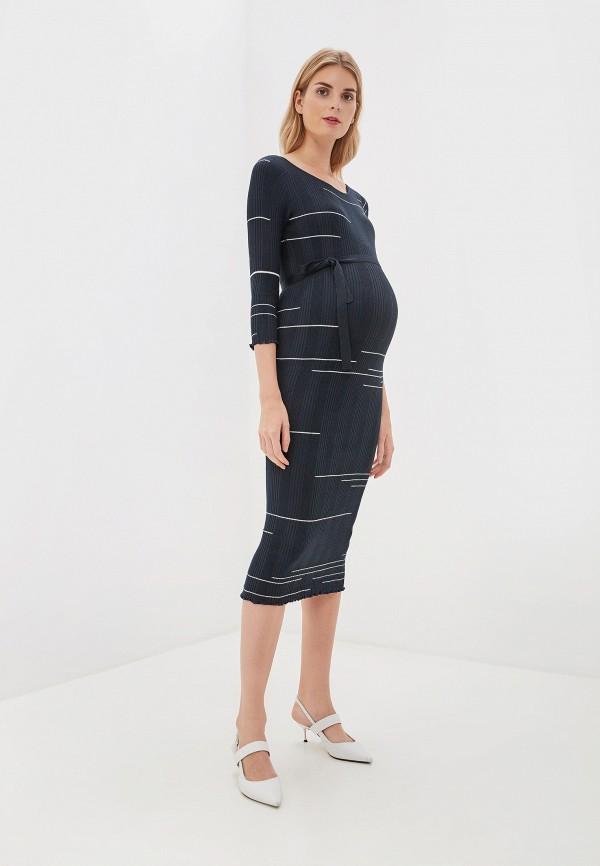 женское повседневные платье mamalicious, синее