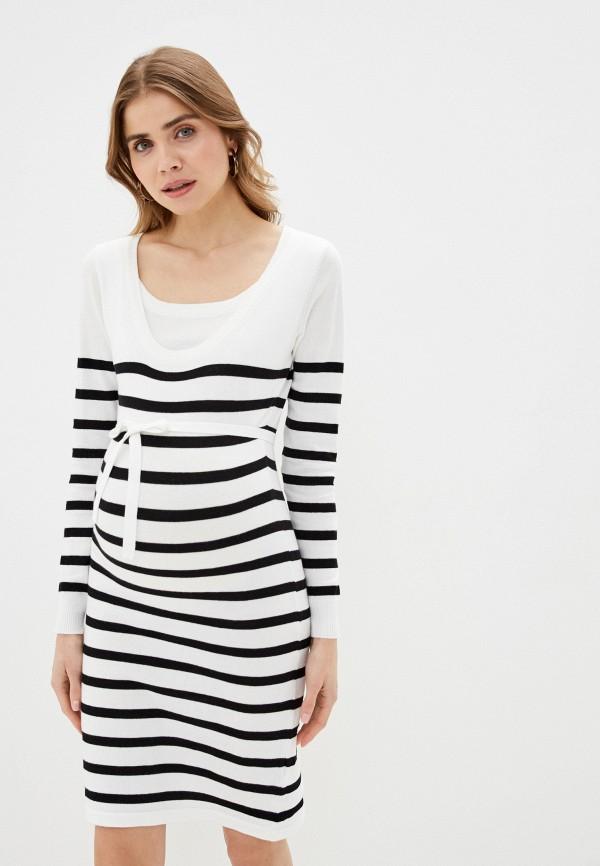 женское платье mamalicious, белое