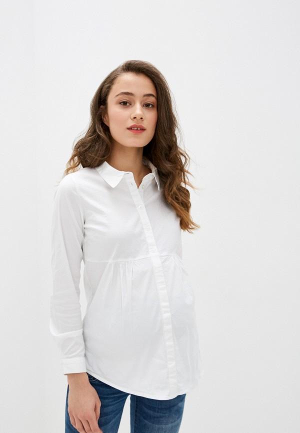 женская рубашка с длинным рукавом mamalicious, белая